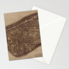 New York City photographed from two miles up in the air (1922) from The Lionel Pincus and Princess F Stationery Cards