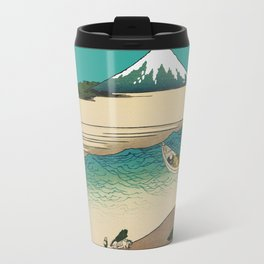 Tama River and Mount Fuji Travel Mug