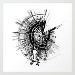 Nazca spider Art Print