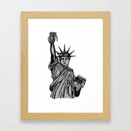 Statue of Suppression Framed Art Print