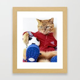 The Cat is #Adidas Framed Art Print