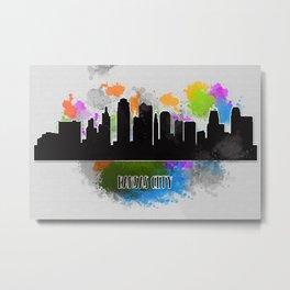 Kansas city skyline silhouette Metal Print