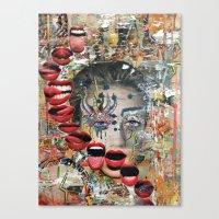 lip Canvas Prints featuring Lip Service by Katy Hirschfeld