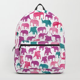 Watercolor Elephant Stampede Pretty Pattern Backpack