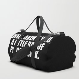 aren't you a ray of pitch black funny quote Duffle Bag