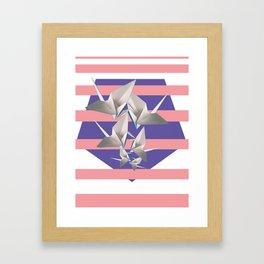 Papier Kraniche Framed Art Print
