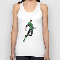green lantern Tank Tops featuring Green Lantern by Ayse Deniz