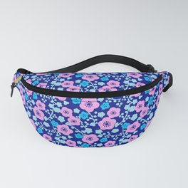 Plum Blossoms colorful Japanese floral pattern Fanny Pack