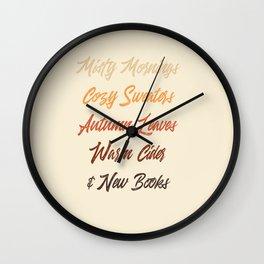 Autumn List Wall Clock