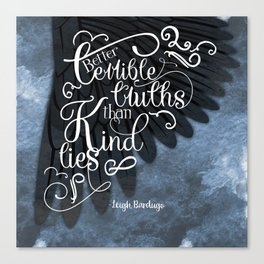 Six of Crows book quote design Canvas Print