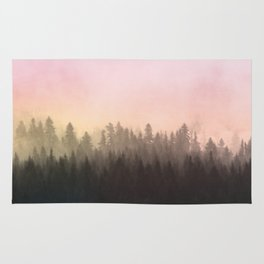 Foggy woods Rug