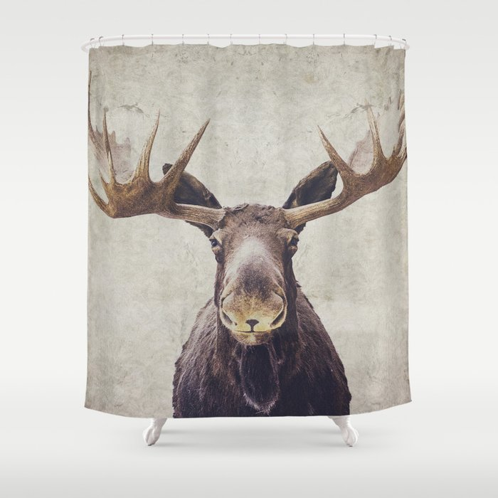 Moose Shower Curtain By Retrolovephotography