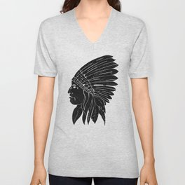 Indian Chief / Black Edition Unisex V-Neck