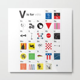 V is for.. Metal Print