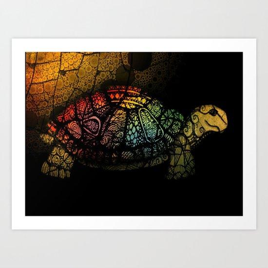 Turtle Glow Art Print