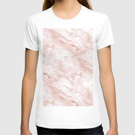 Grandiose rose gold marble T-shirt