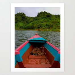 Small Boat, Big World Art Print