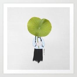 Lotus girl Art Print
