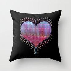 Tribal Heart Throw Pillow