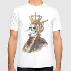 I LOVE THE KING MEDIUM Mens Fitted Tee White