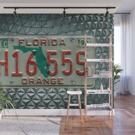 Orange County Florida Tag Automotive Car License Plate Wall Mural