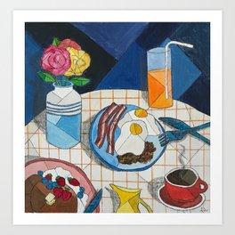 Sunday Breakfast Art Print