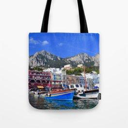 The Beach in Capri, Italy Tote Bag