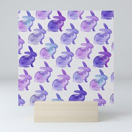 Watercolor Bunnies 1K by Kathy Morton Stanion Mini Art Print