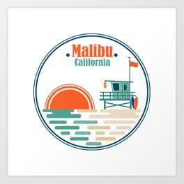 Malibu, California Art Print
