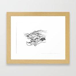 Over the Edge: Fur Framed Art Print