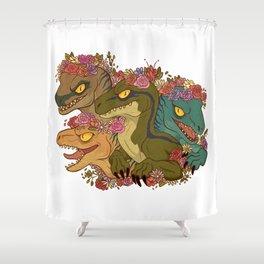 Raptor Babes Shower Curtain