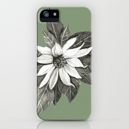 Florida Flower with Green Background iPhone Case
