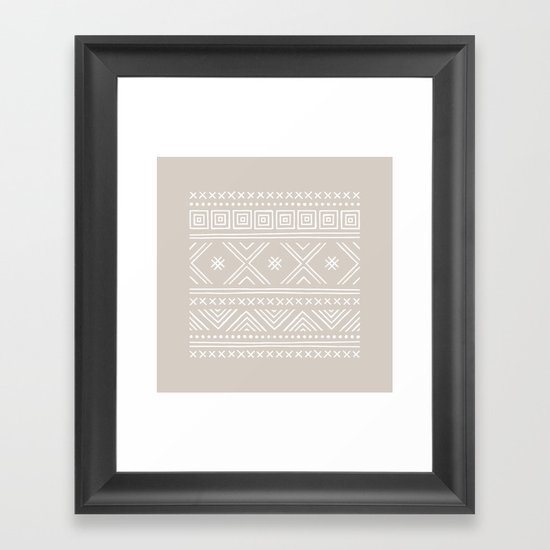 Into the West - in Taupe Framed Art Print