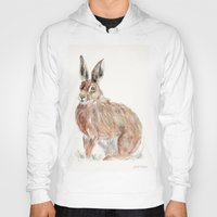 hare Hoodies featuring HARE  by Joelle Poulos