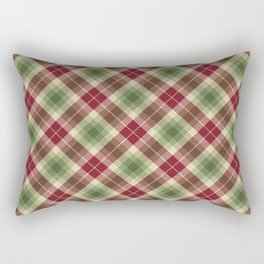 Holiday Plaid 16 Rectangular Pillow