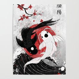 Koi fish - Yin Yang Poster
