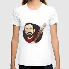 Negan Minimalistic Vector Portrait (The Walking Dead) T-shirt