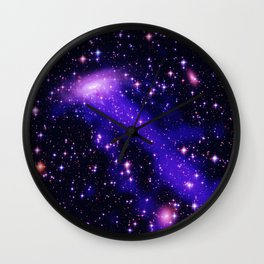 GAlaxy Purple Hot Pink Stars Wall Clock