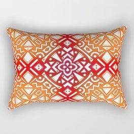 Tribal Tiles II (Red, Orange, Brown) Geometric Rectangular Pillow