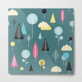 Cute forrest pattern Metal Print