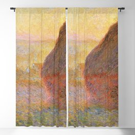 Haystacks, Sunset (1891) by Claude Monet Blackout Curtain