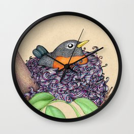 Colorful Nest Wall Clock
