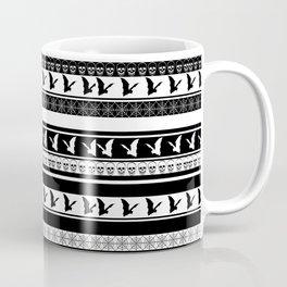 Halloween on Christmas - Black and White Coffee Mug