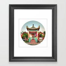 Female Buddha #2 (Circle) Framed Art Print