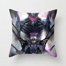 Kaworu Nagisa the Sixth. Rebuild of Evangelion 3.0 Digital Painting. Throw Pillow