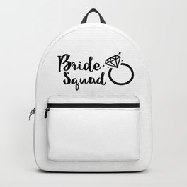 Bride Squad in Black Lettering Backpack
