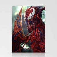 carnage Stationery Cards featuring Carnage by corverez