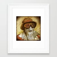 fear and loathing Framed Art Prints featuring Fear and Loathing by Ant Errickson
