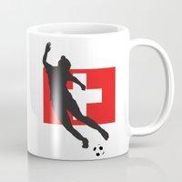 switzerland Mugs featuring Switzerland - WWC by Alrkeaton