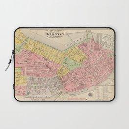 Vintage Map of Boston MA (1876) Laptop Sleeve